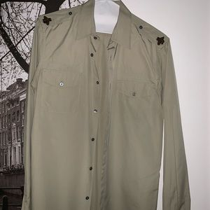 Gucci Shirts - Gucci Military Shirt w/ bees on the shoulder